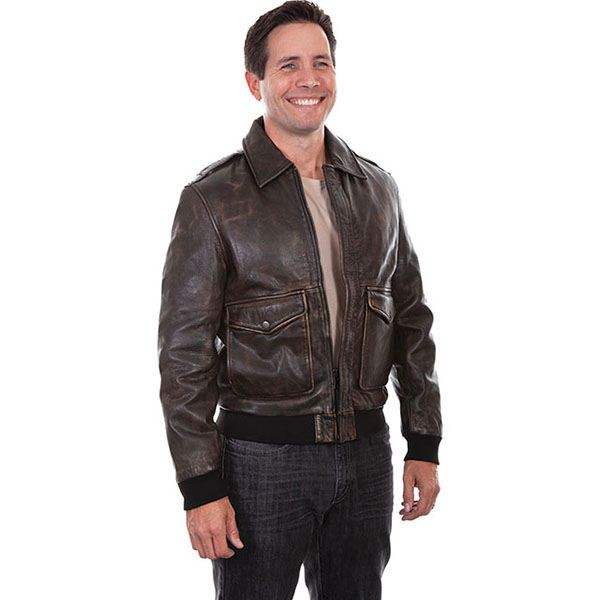 Scully Leather Bomber Jacket