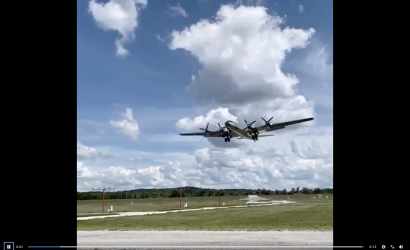 B-29 Doc Slow-Motion Short Final Fly By!
